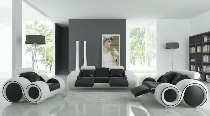 Inspace design company black and white sofas